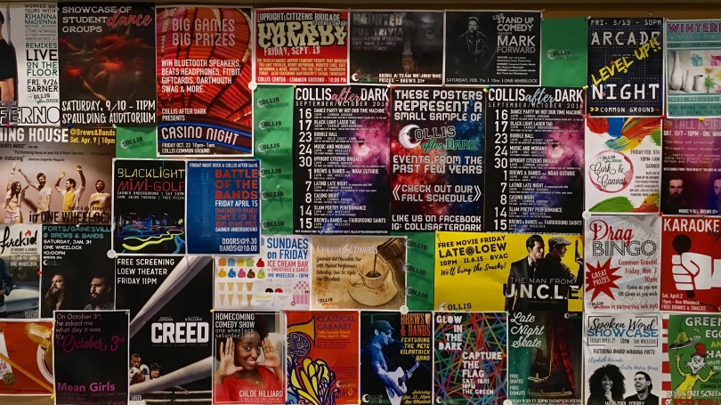A sample of Collis After Dark event posters from the past few years.