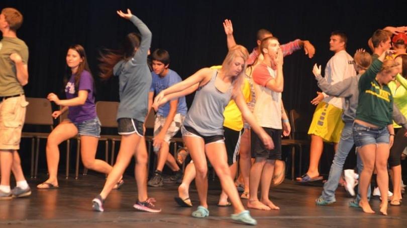 hypnotized students on stage