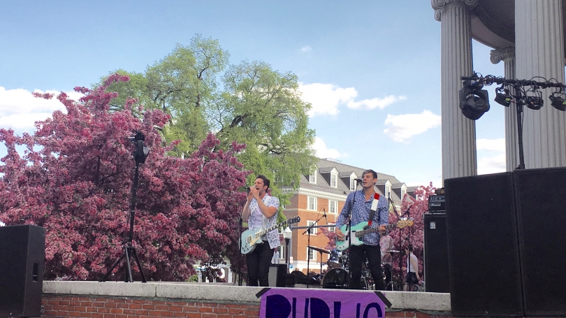 Public performing at Collis Mainstage