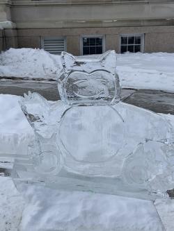 photo of snorlax ice sculpture