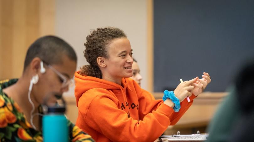 Female DAS Student in a STEM Class