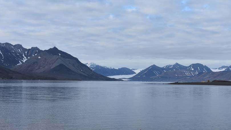 Field camp site on St. Jonsfjorden, Svalbard