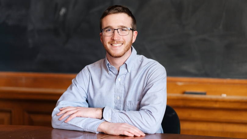 Woodrow Wilson Fellow Clayton Jacques '19 is training to teach in high-need high schools.