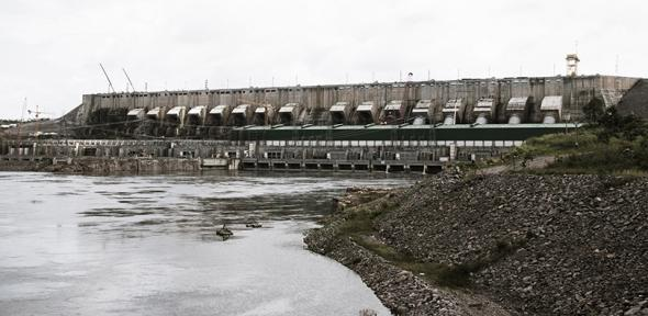 The Belo Monte Dam is in the final stages of construction on the Xingu River in Brazil.