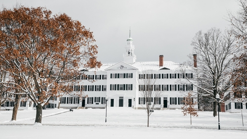 Dartmouth Hall snow day