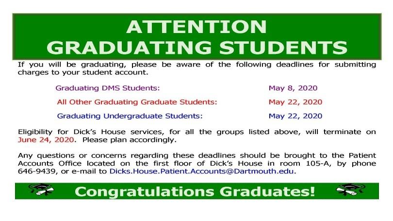 Graduating Student Notice