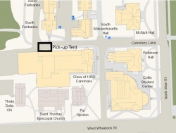 Location of pick up food off campus students