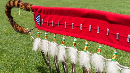 The eagle feather staff