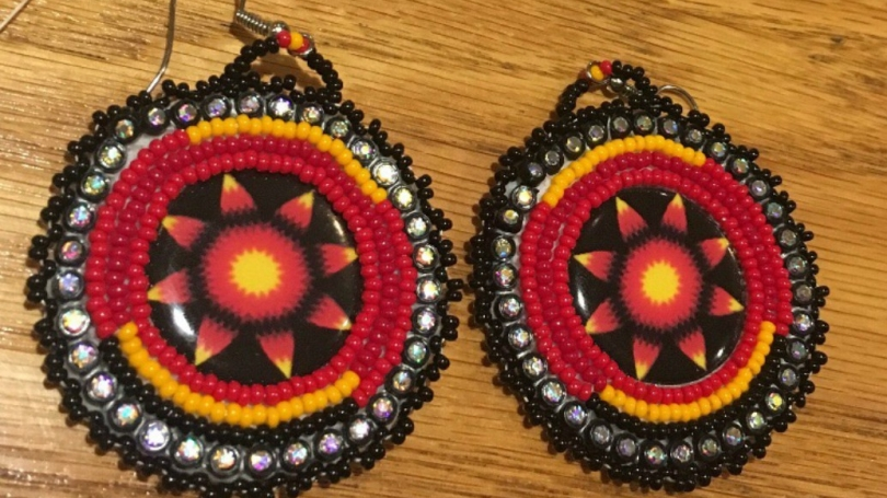 Beaded Earrings from the Beading Circle at Dartmouth
