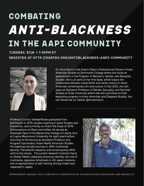 Flyer for DAPAAA Anti-Blackness Event
