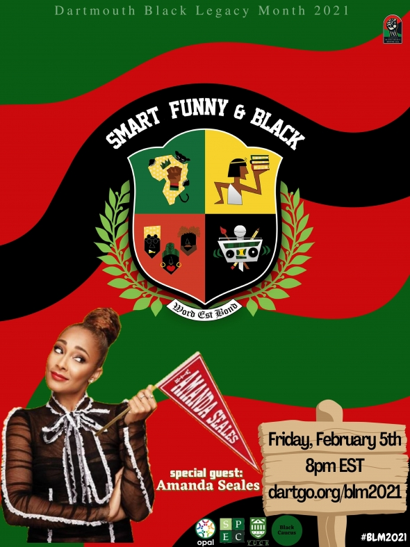 An image of Amanda Seales holding a pennant