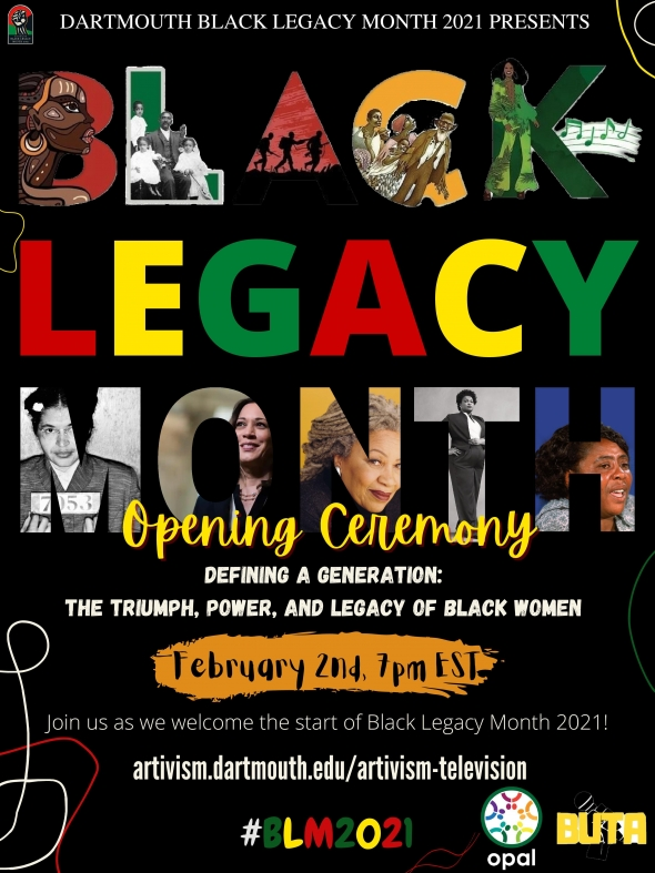 Flyer for BLM 2021 opening event