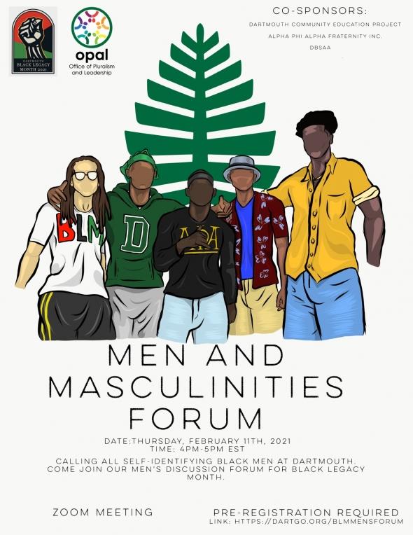 Flyer for BLM Mens Forum