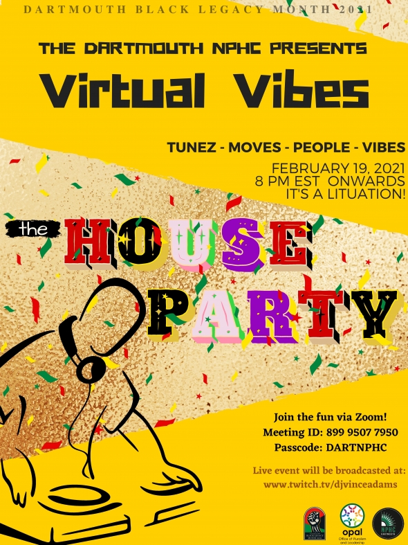 Flyer for BLM 2021 NPHC virtual party