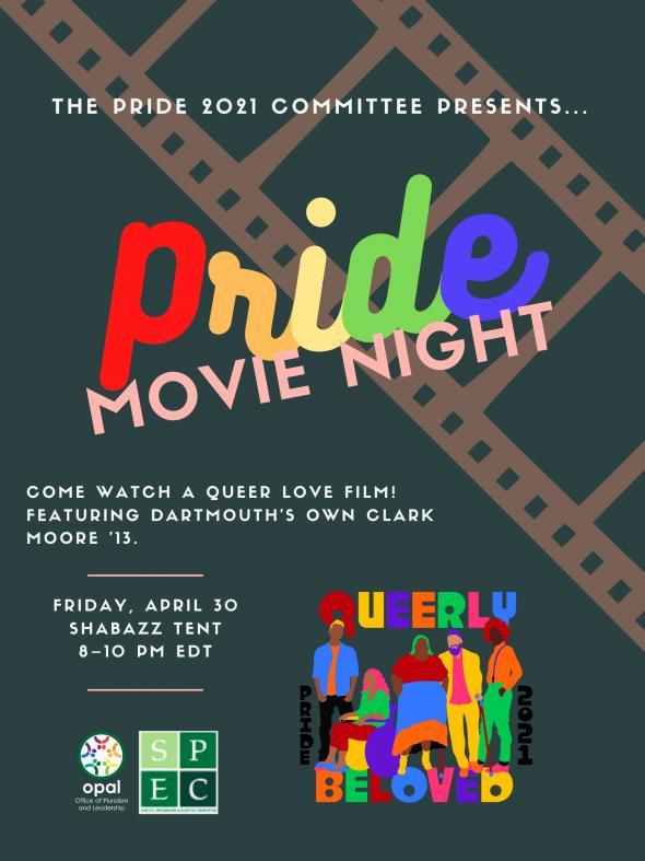 Flyer for Pride 2021 Movie Night