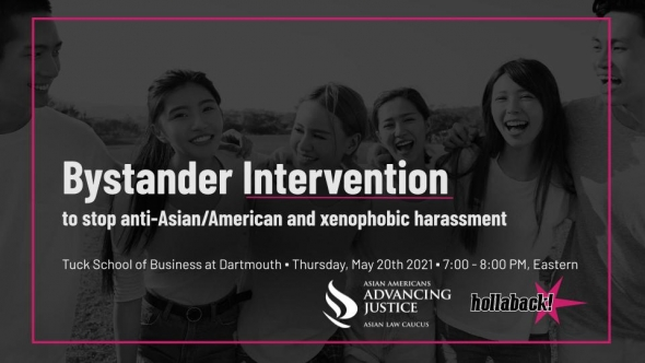Flyer for AAPIHM Bystander Intervention