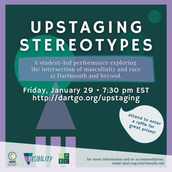 Flyer for Upstaging Stereotypes 2021