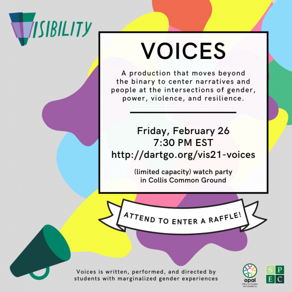 Flyer for Voices 2021