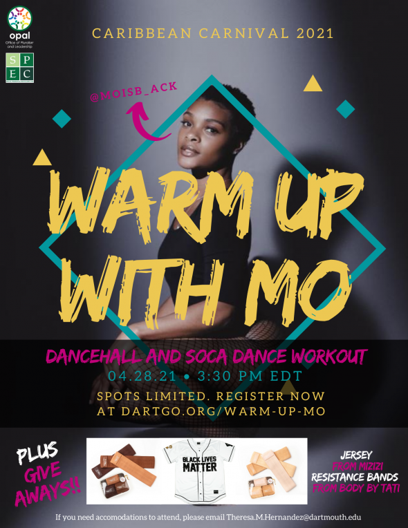Flyer for Warm Up With Mo