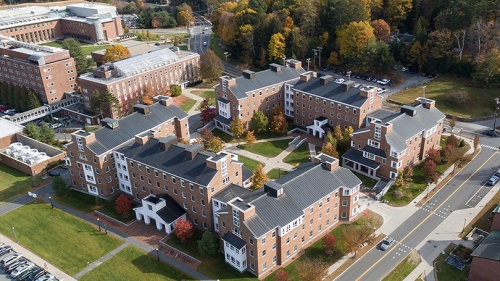 an overhead view of the McLaughlin housing cluster