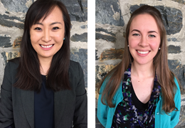Ahra Cho and Claire Hogue, 2015-2016 Schweitzer Fellows