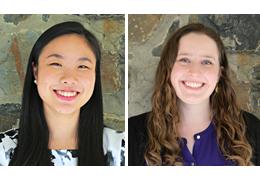 Alice Peng and Ellen Seyller, 2018-2019 Schweitzer Fellows