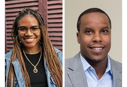 Arielle King and Jameson Davis, NH-VT Schweitzer Fellows 2020-2021