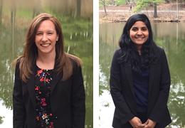 Ashley Hamel and Sumitha Raman, 2015-2016 Schweitzer Fellows