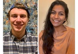 Brendan Barth and Prianca Tawde, NH-VT Schweitzer Fellows 2020-2021