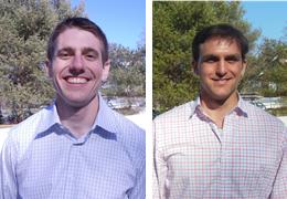 Christopher Mayhew and Carl Nunziato, 2014-2015 Schweitzer Fellows