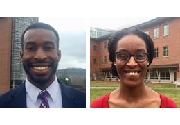 Frederick Burton III and Trenika Williams, 2017-2018 Schweitzer Fellows