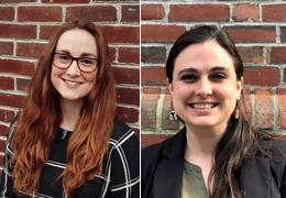Gillian Cowley and Erika Gerstenberger, 2019-2020 Schweitzer Fellows