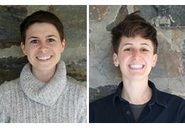 Jacqueline Gresham and Sand Mastrangelo, 2018-2019 Schweitzer Fellows