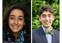 Jenna Elkhoury and Liam John, NH-VT Schweitzer Fellows 2020-2021