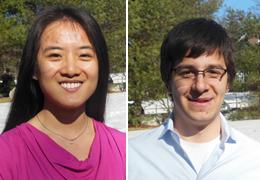 Jia Xin Jessica Huang and Alejandro Velez, 2014-2015 Schweitzer Fellows