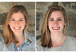 Julia Danford and Lindsay Holdcroft, 2018-2019 Schweitzer Fellows