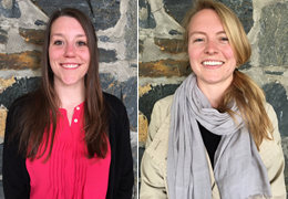 Kathryn Anderson and Charlotte Hastings, 2015-2016 Schweitzer Fellows