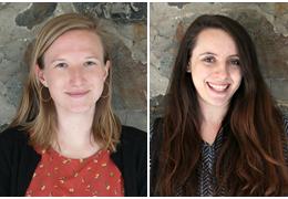 Kathryn Collier and Kira Gressman, 2018-2019 Schweitzer Fellows