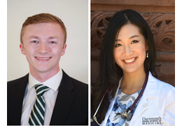 Keegan O'Hern and Amy Liang, NH-VT Schweitzer Fellows 2020-2021