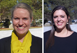 Kimberly Betts and Nicole Moraco, 2014-2015 Schweitzer Fellows