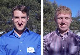 Lars Matkin and David Whitehead, 2014-2015 Schweitzer Fellows