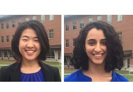 Louisa Chen and Nasim Azizgolshani, 2017-2018 Schweitzer Fellows
