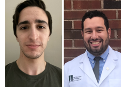 Mark Oet and Victor Abraham, NH-VT Schweitzer Fellows 2020-2021