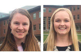 Kirsten Martin and Lauren Donnelly, 2017-2018 Schweitzer Fellows