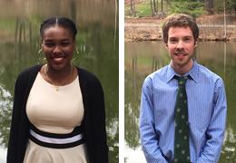 Marvah Hill Peirre-Louis and John Mascari, 2015-2016 Schweitzer Fellows
