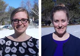 Mary Ledoux and Laura Leonard, 2014-2015 Schweitzer Fellows