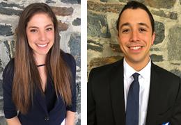 Mayrana Carneiro and Alexander Soto-Edwards, 2015-2016 Schweitzer Fellows