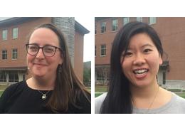 Nicholette Lustig and Serena Tang, 2017-2018 Schweitzer Fellows