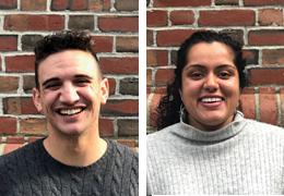 Ramzi Ben-Yelles and Aarti Gangadharan, 2019-2020 Schweitzer Fellows