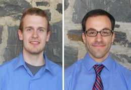 Christiaan Rees and Ben Hills, Schweitzer Fellows, 2013 - 2014